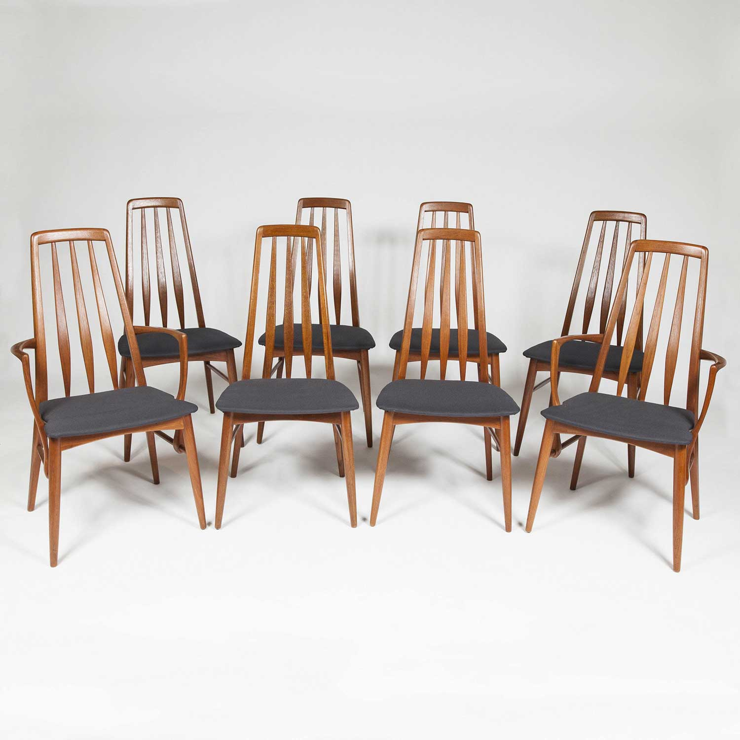 8 EVA CHAIRS BY NEILS KOEFOED
