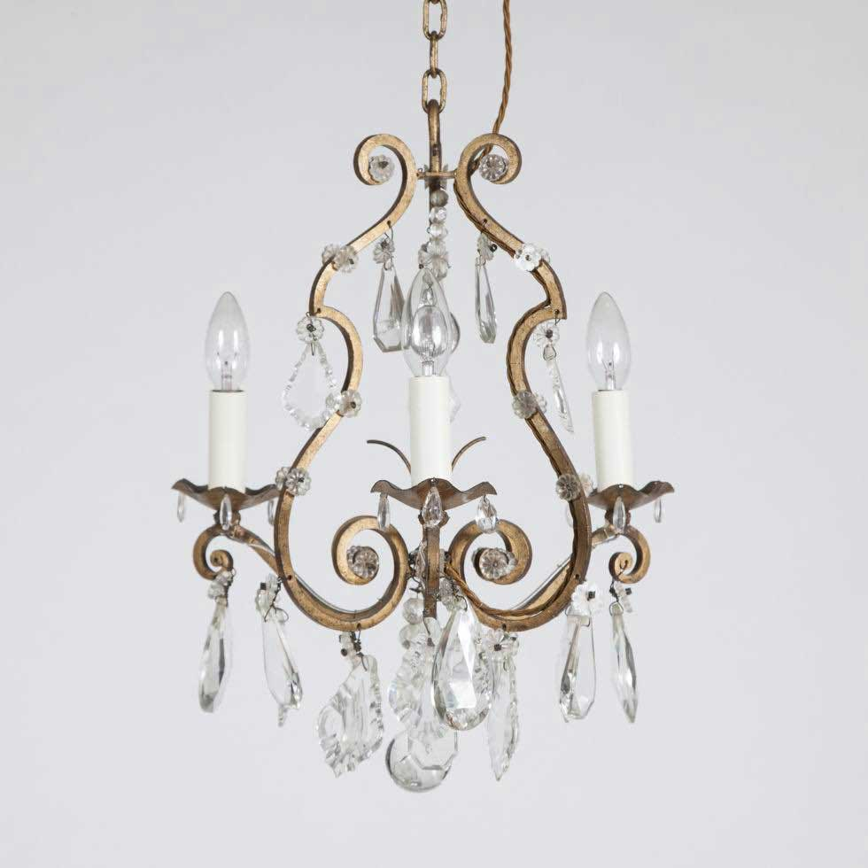 3 LIGHT CAGE CHANDELIER