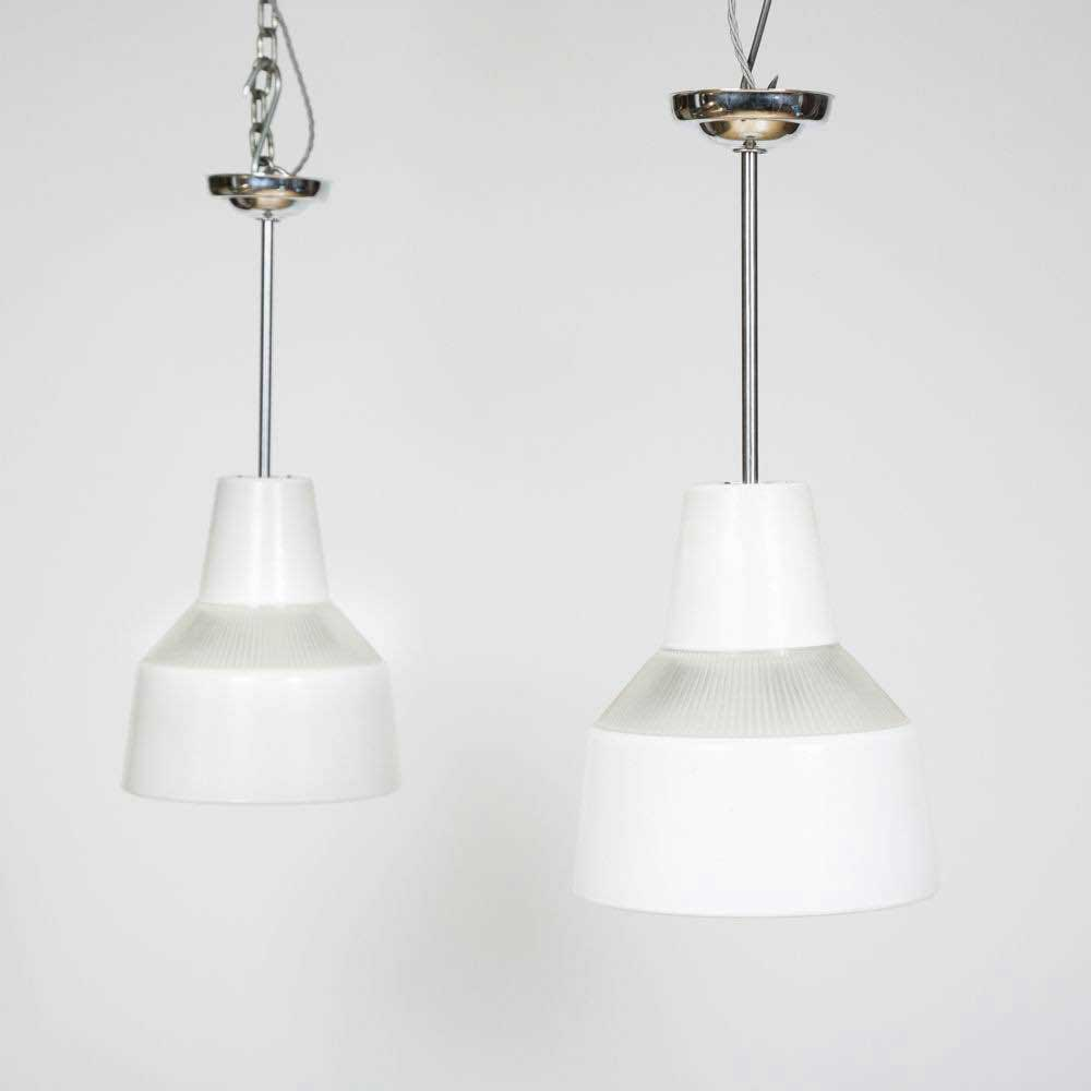 WHITE GLASS HANGING LIGHTS